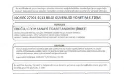 Eroğlu Giyim ISO 27001 Belgesi
