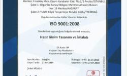 Eroğlu Giyim ISO 9001-2008 TR Belgesi